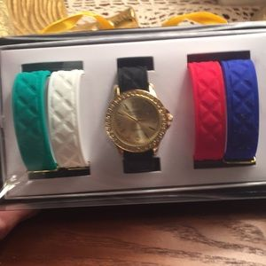 New JTV embassy watch set with 5 bands